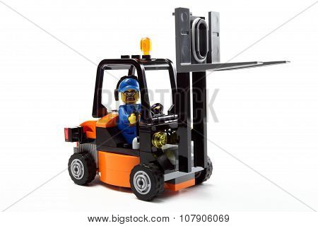 Toy Man On Forklift Truck C