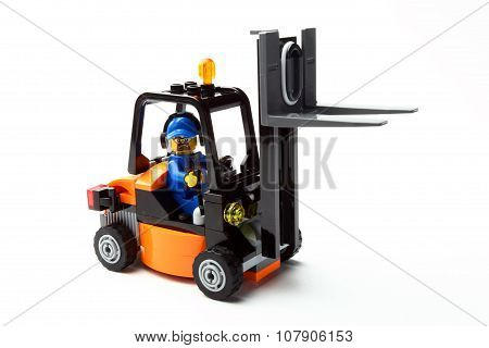 Toy Man On Forklift Truck E