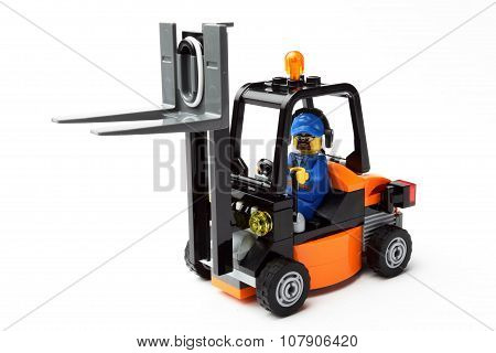 Toy Man On Forklift Truck F