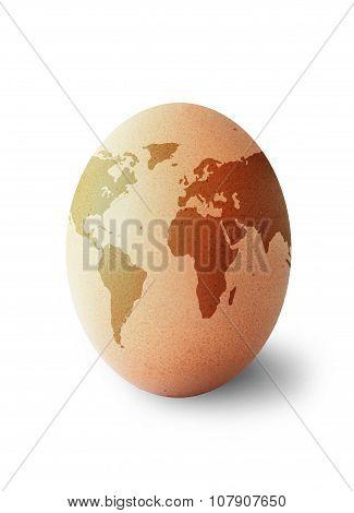 World Map Egg