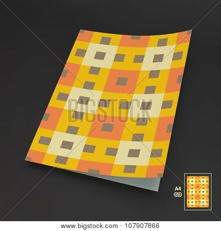 Modern Colorful Background Template for Brochure, Magazine or Notebook.