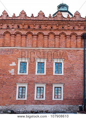 A Fragment Of The Historic Brick Building On The Market In Sandomierz