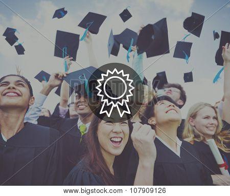 Badge Reward Prize VIctory Success Achievement Concept