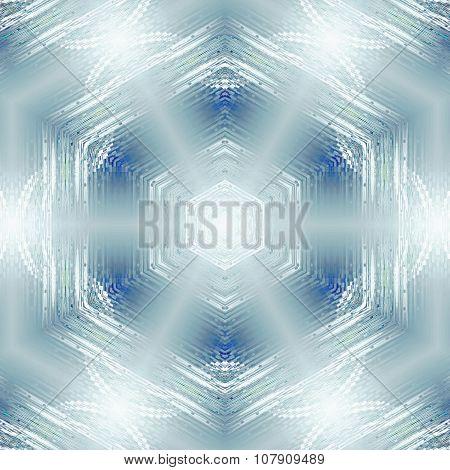 Seamless hexagon pattern silver turquoise shiny