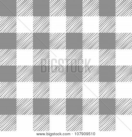 Seamless texture of gray plaid