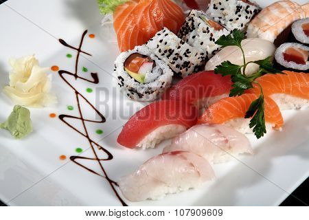 Close Up Sushi And Sashimi