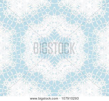 Seamless ornaments white blue