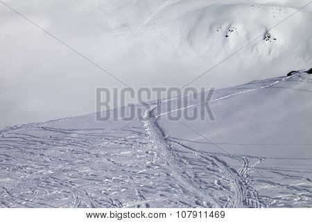 Off-piste Slope With New-fallen Snow