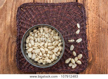 Peanuts in the dish