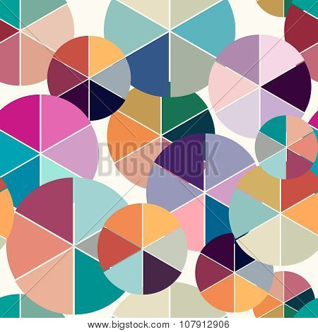Abstract geometric vector seamless background. Illustration for web design, prints etc. Texture with