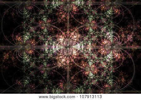 Fractal Image : Beautiful Pattern On A Dark Background.