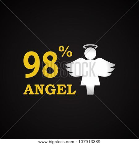 98% Angel - funny inscription template