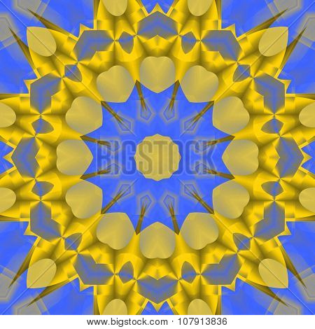 Seamless star pattern yellow golde blue