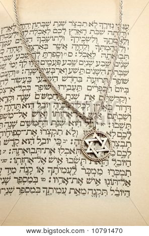 The Torah And Siver Chain With Magen David