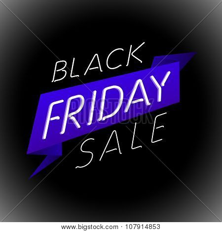 Black Friday Sale Design Template. Label