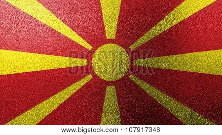 Flag of the Republic of Macedonia, Macedonian Flag painted on glass