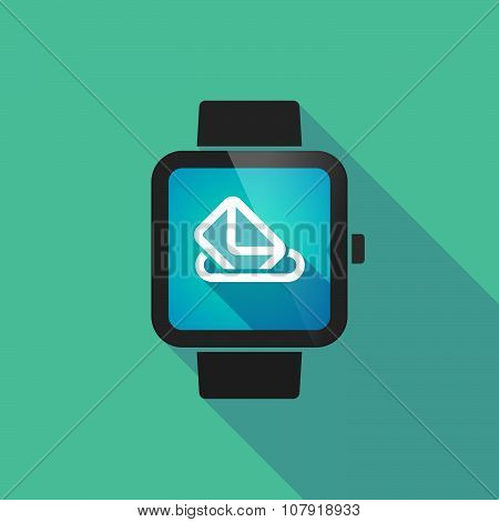 Smart Watch Vector Icon With  A Ballot Box