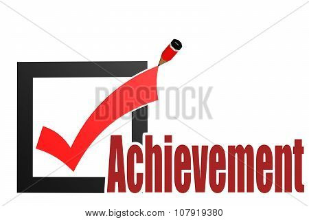 Check Mark With Achievement Word
