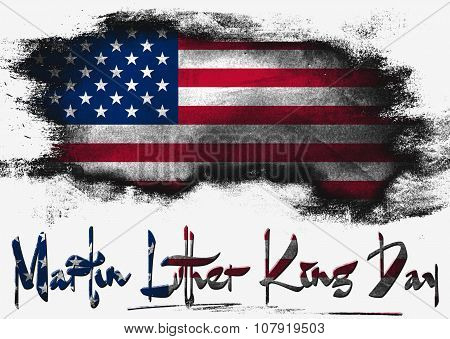 Flag Of United States, Usa Martin Luther King Day