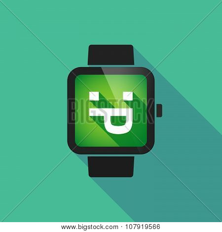 Smart Watch Vector Icon With A Sticking Out Tongue Text Face