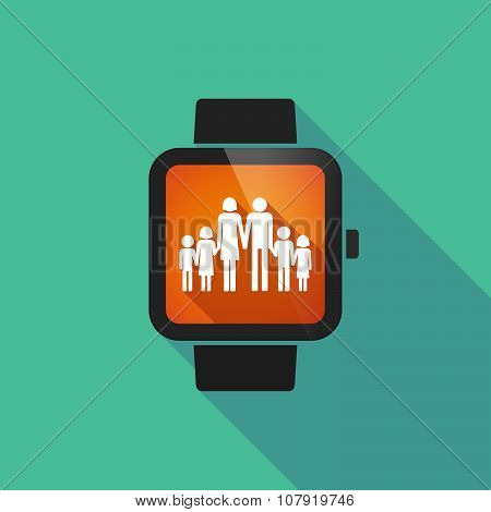 Smart Watch Vector Icon With A Large Family  Pictogram