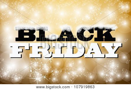 Black Friday Sign Gold And Glitter