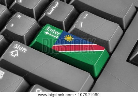 Enter Button With Namibia Flag