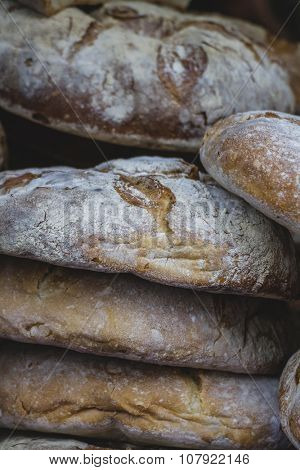 artisan bread in ancient medieval fair, Spain