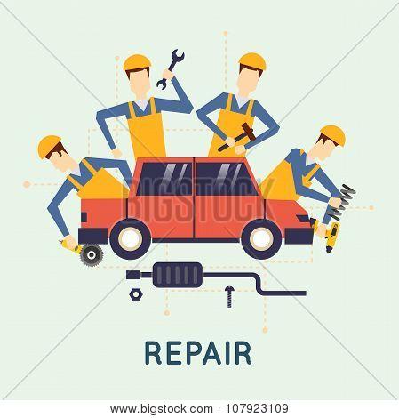 Car repair.