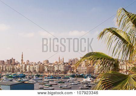Panorama View Of Alexandria, Egypt.