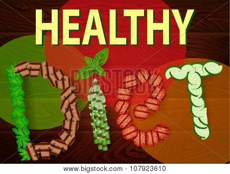 Diet Vegetables Healthy Wooden Texture 1