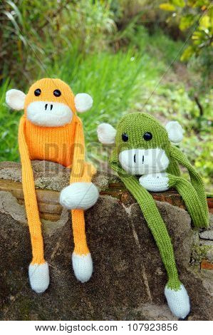 Knitted Lonely Monkey, Symbol Of Year 2016