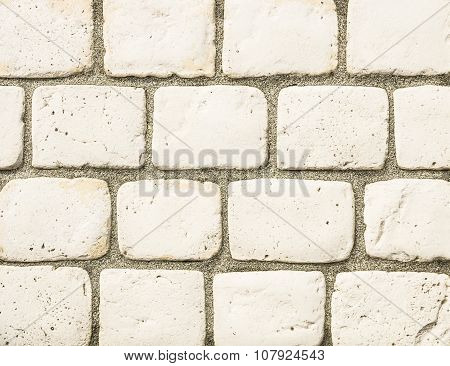 Stonewall Background - Concrete And Tiles Seamless Composition For Construction