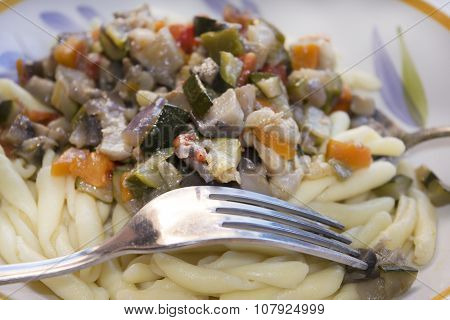 Macaroni With Vegetable Ragu
