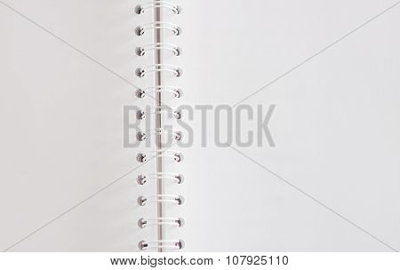 Closeup Open Spiral Notebook