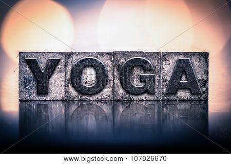 Yoga Concept Vintage Letterpress Type