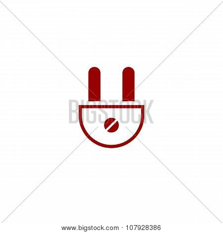 Plug Colored Flat Vector Icon