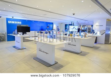 HONG KONG - NOVEMBER 02, 2015: interior of store in New Town Plaza. New Town Plaza is a shopping mall in the town centre of Sha Tin in Hong Kong. Developed by Sun Hung Kai Properties