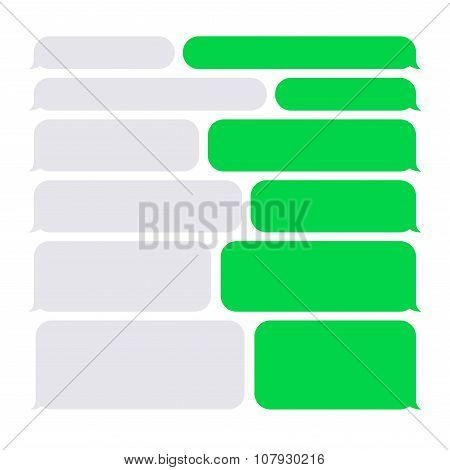 Smartphone SMS Chat Bubbles Constructor Set. Vector