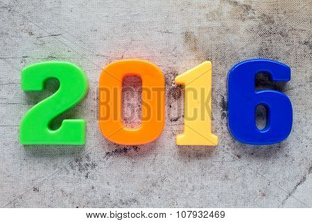2016 Colorful Plastic Number