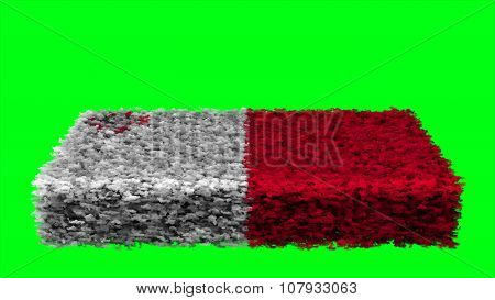 Flag of Malta, Maltese flag made from clouds