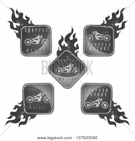 Chopper Motorcycle Label Sticker