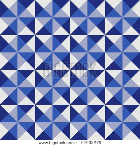 Geometric pattern in blue triangles