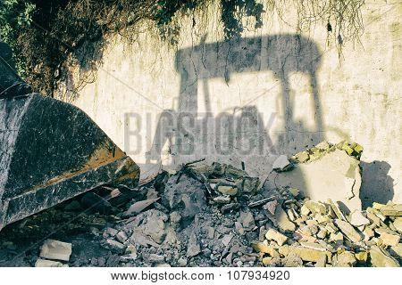 Construction Machine Shadow
