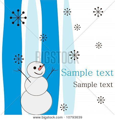 .joyful Snowman.