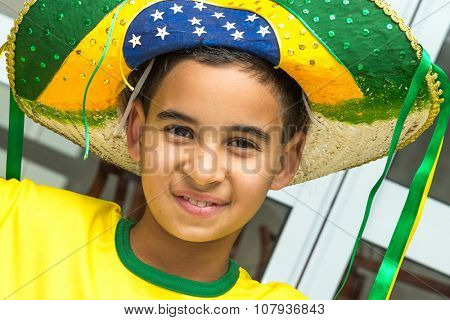 Brazilian boy at home