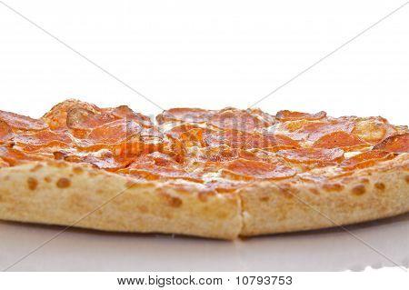 Pepperoni and Mozzarella Cheese Pizza.