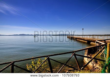 Italian destination in Umbria region, Lake Trasimeno