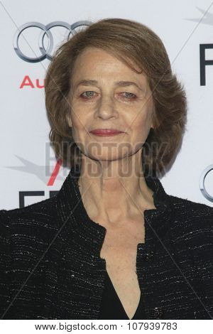 LOS ANGELES - NOV 11:  Charlotte Rampling at the Tribute to Charlotte Rampling and Tom Courtenay - Screening of