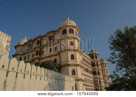 Udaipur palace view from outside
